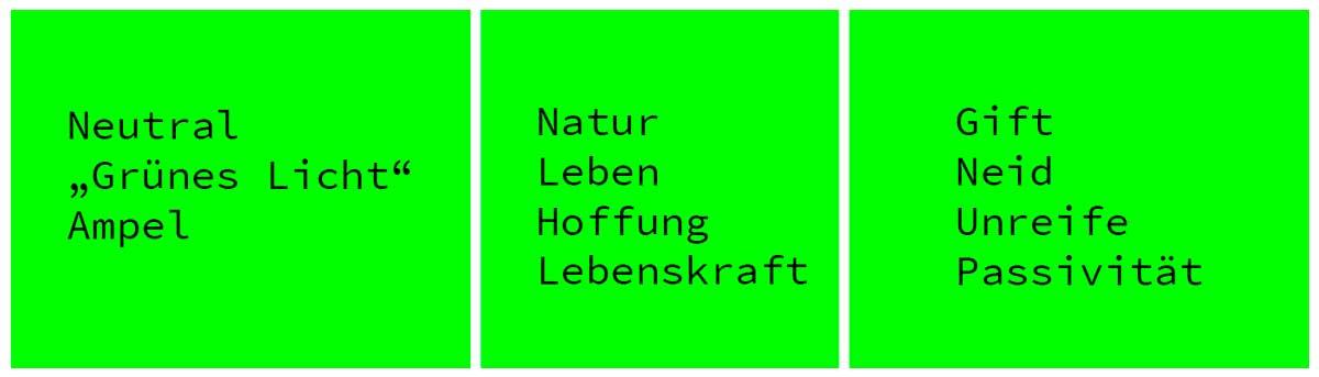 Webdesign Farbe Grün Bedeutung